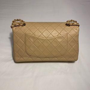 CHANEL Bags - Chanel Double Flap Classic Beige Shoulder Bag